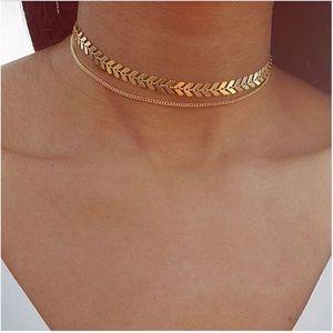 Jewelry - Dainty Bohemian Gold Arrow Choker Necklace